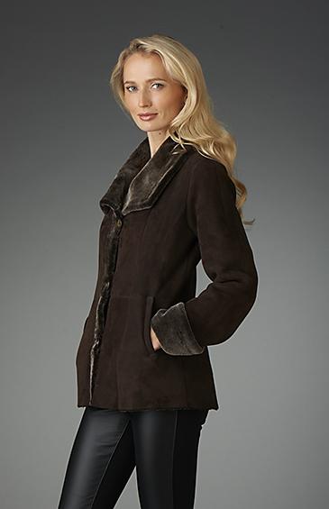 shearling jacket for women