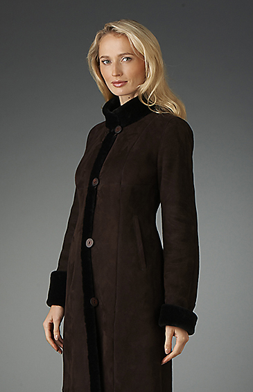 shearling coat for women