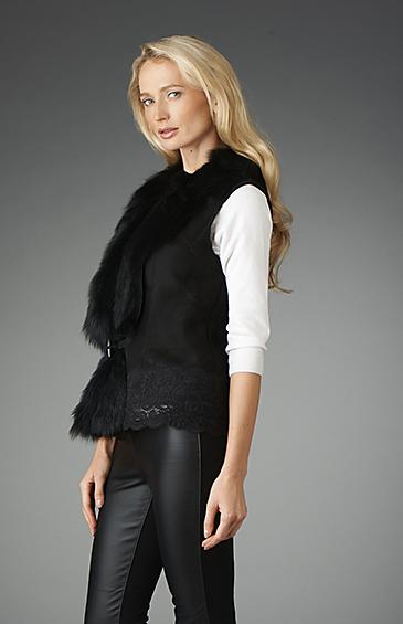 shearling vest for women
