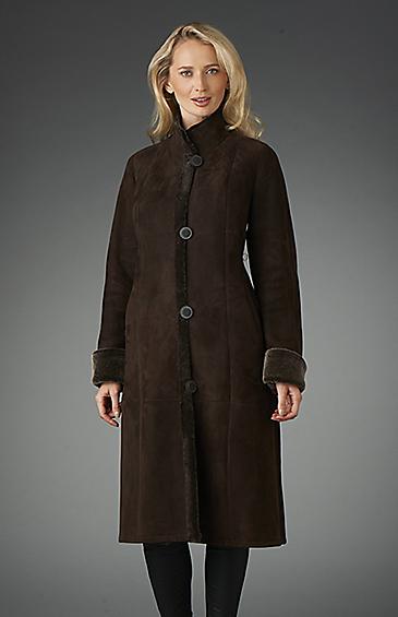 shearling coat for women