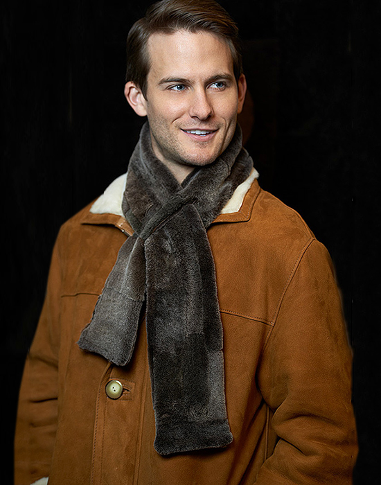 sheepskin shearling scarf