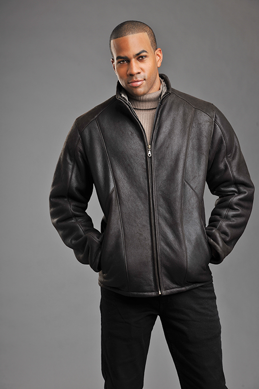 shearling sheepskin bomber for men style Clive