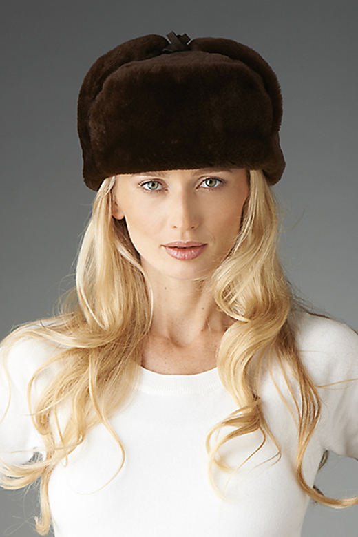 sheepskin trooper hat for women