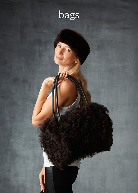 curly lamb barrel handbag