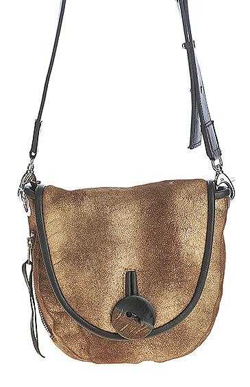 sheepskin shearling cross body handbag