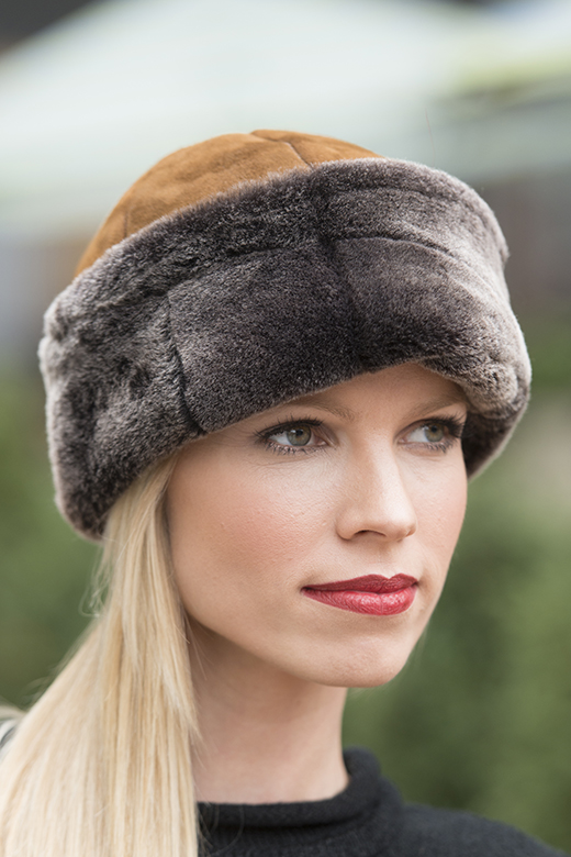 sheepskin shearling hat for women
