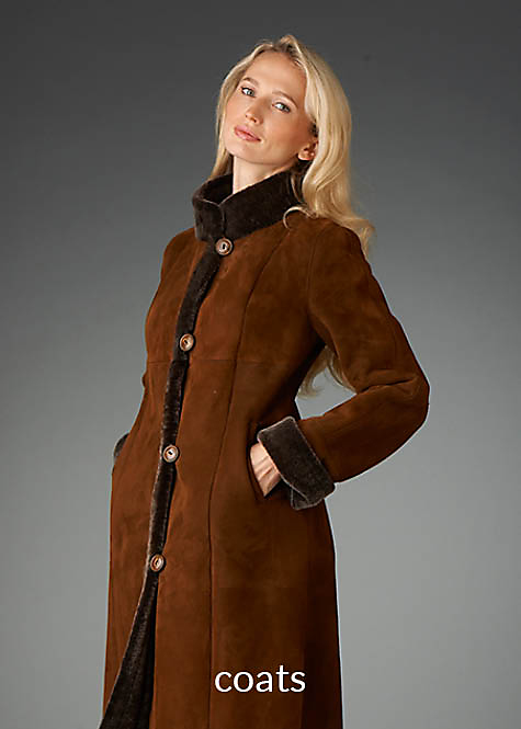 shearling coat for women color honey with frosted wool