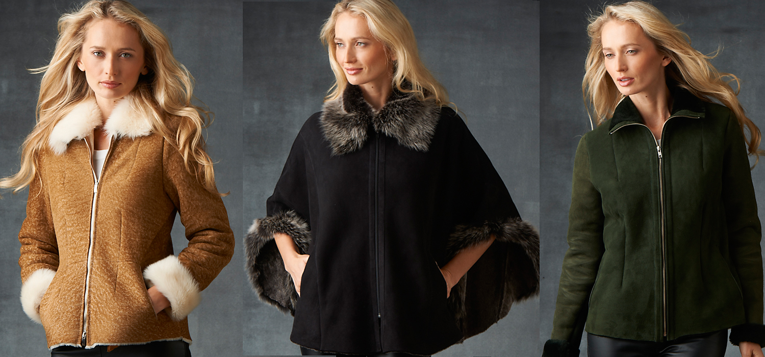 short shearling jackets for women