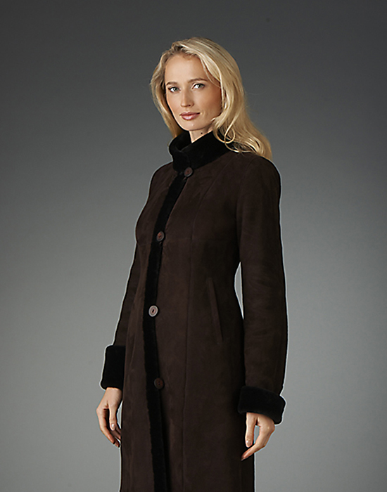 shearling coat for woman