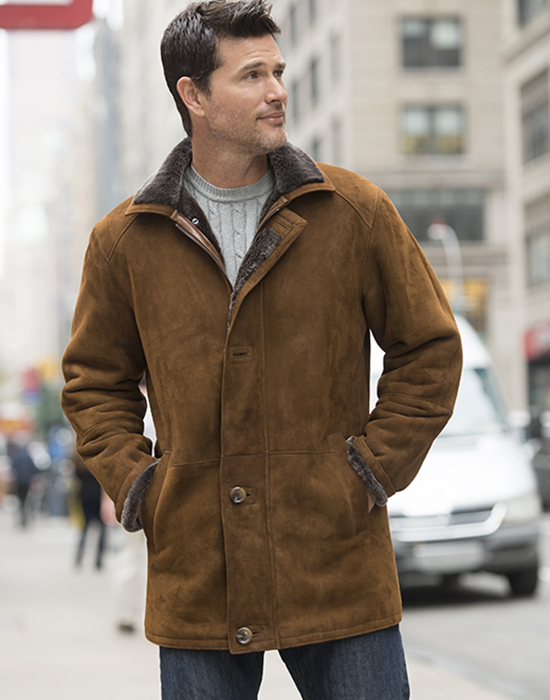 shearling jacket for man