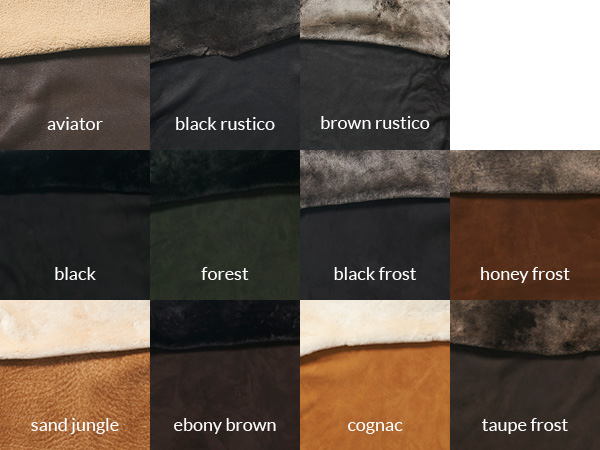 shearling color swatches